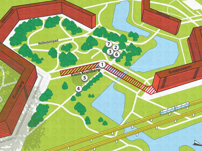 Bijlmer-bord-map