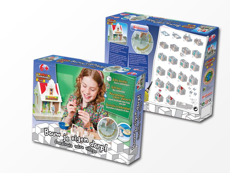 RS2P Blokker Brickadoo packaging design Flowershop