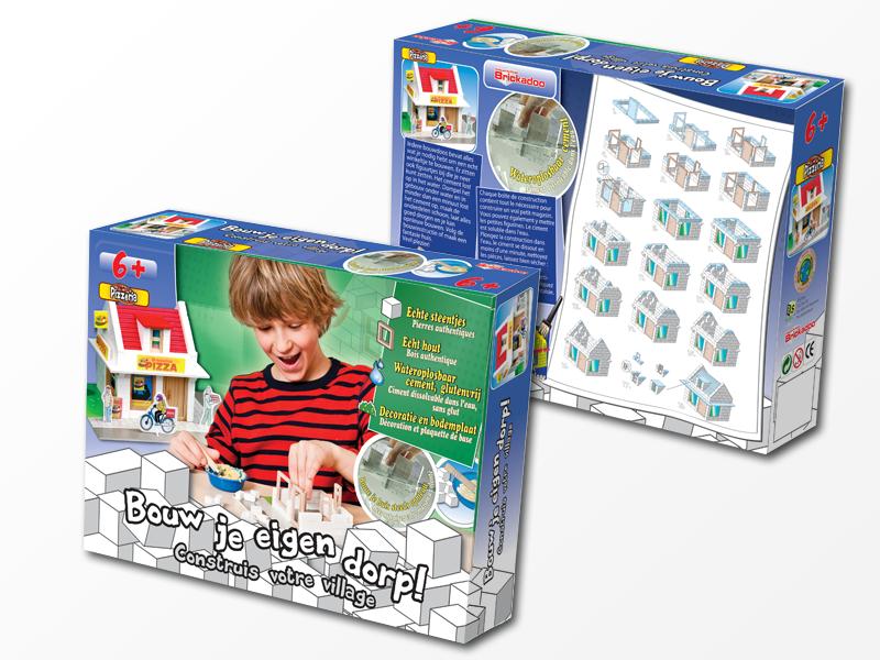 RS2P Blokker Brickadoo packaging design Pizzaria