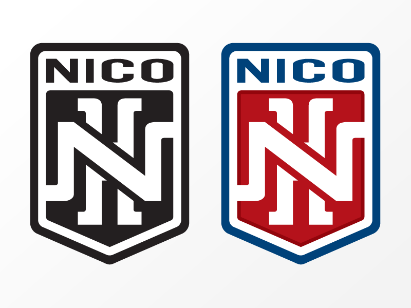 Logo Nico Hernandez boxing Black/white and 2 Color version